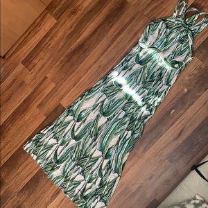 Lulus looking tropical maxi dress xs